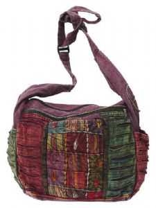 Bag~ Hippy Bohemian Patchwork Rip Affect EmbroideredShoulder Bag~ By Folio Gothic Hippy NT273